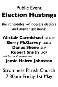 Hustings advert