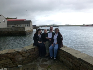 The petitioners on Stromness pier just before the storm.